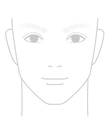 全体的に薄い眉