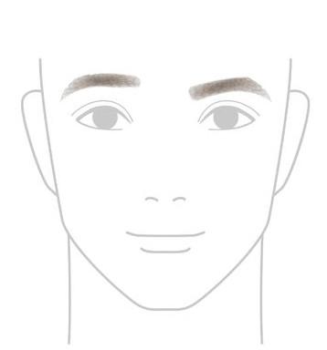 左右の高さが違う眉