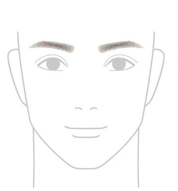 アーチ形の眉毛