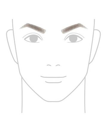 「へ」の字の眉