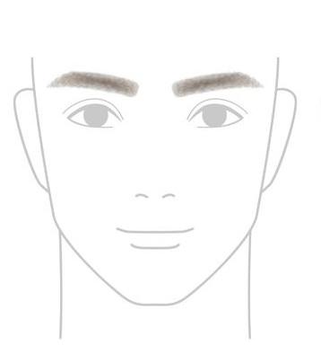 太めの濃い眉毛