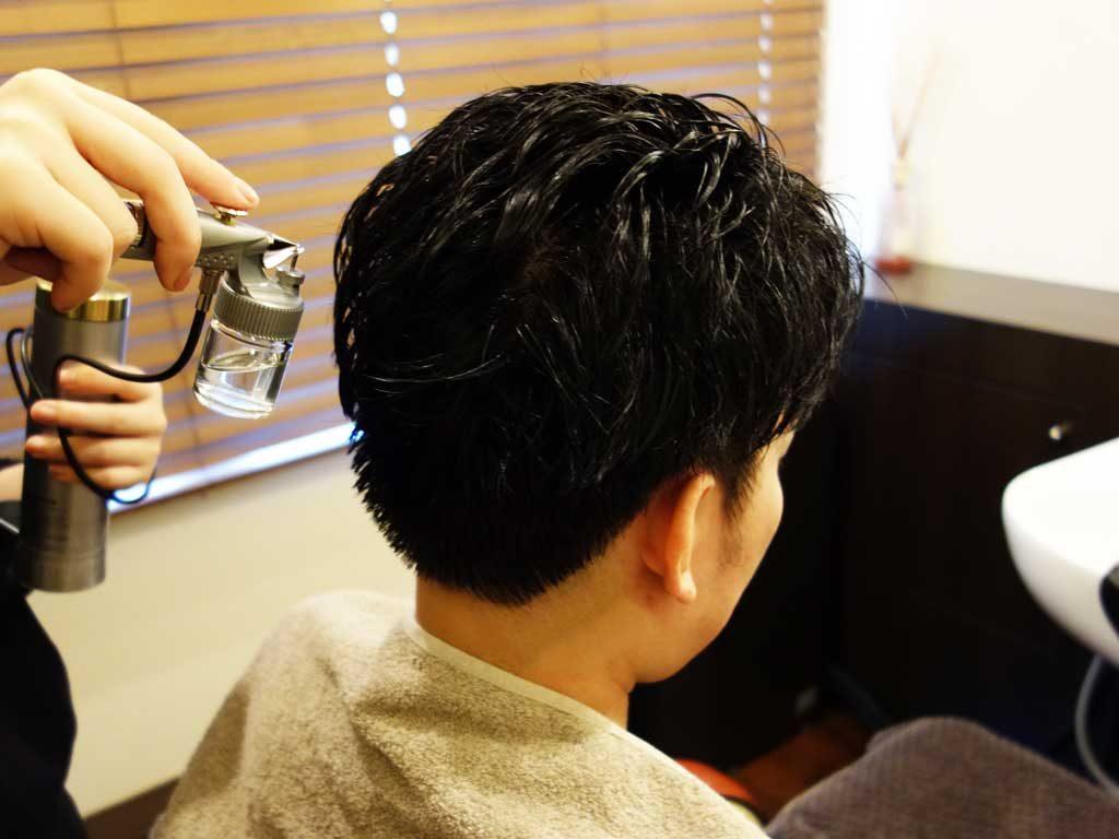 頭皮の炭酸スプレー