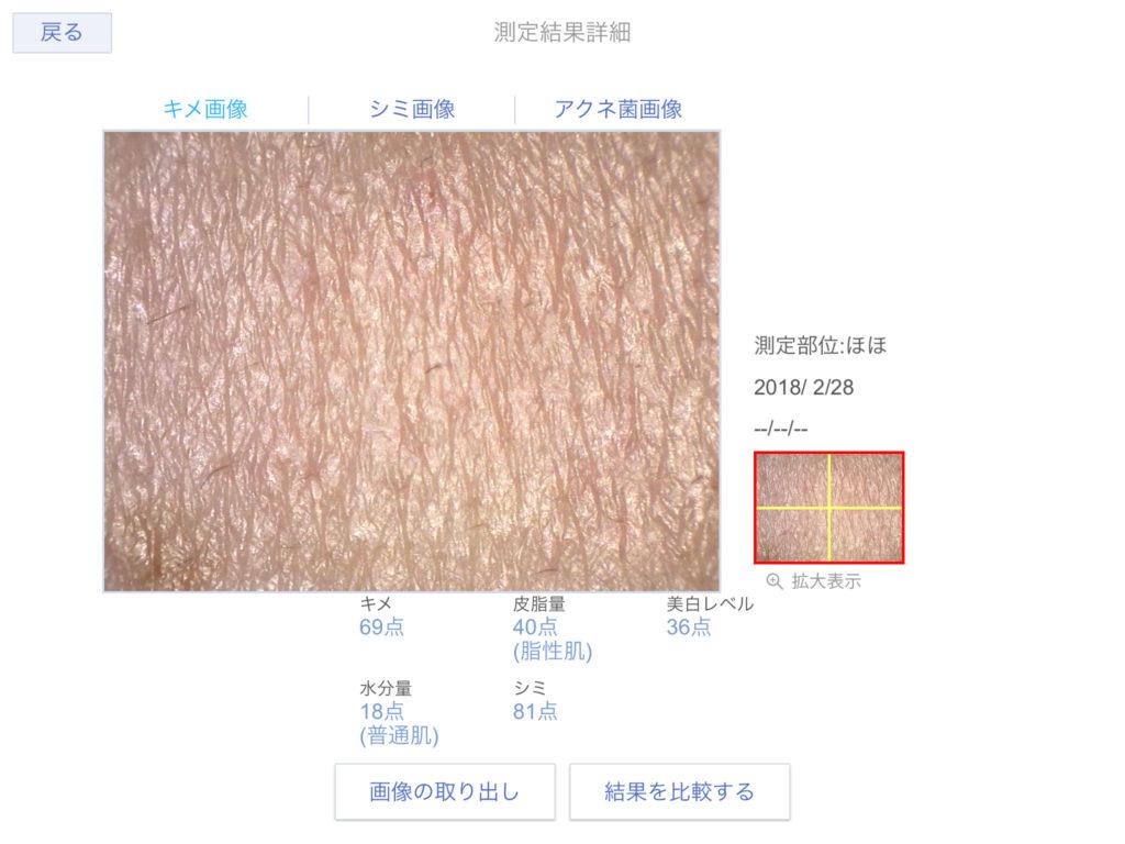 化粧水使用前の肌の状態