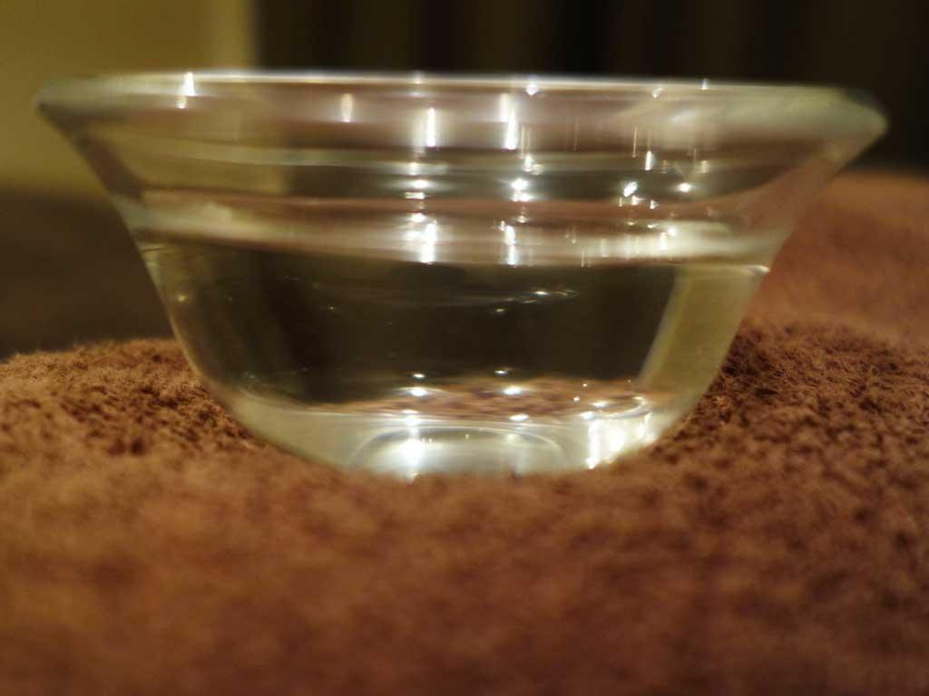 スキンスクライバー使用前の精製水